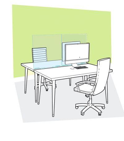 Protezione in Plexiglass - Smart Office