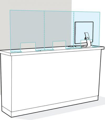 Protezione in Plexiglass - Top Desk