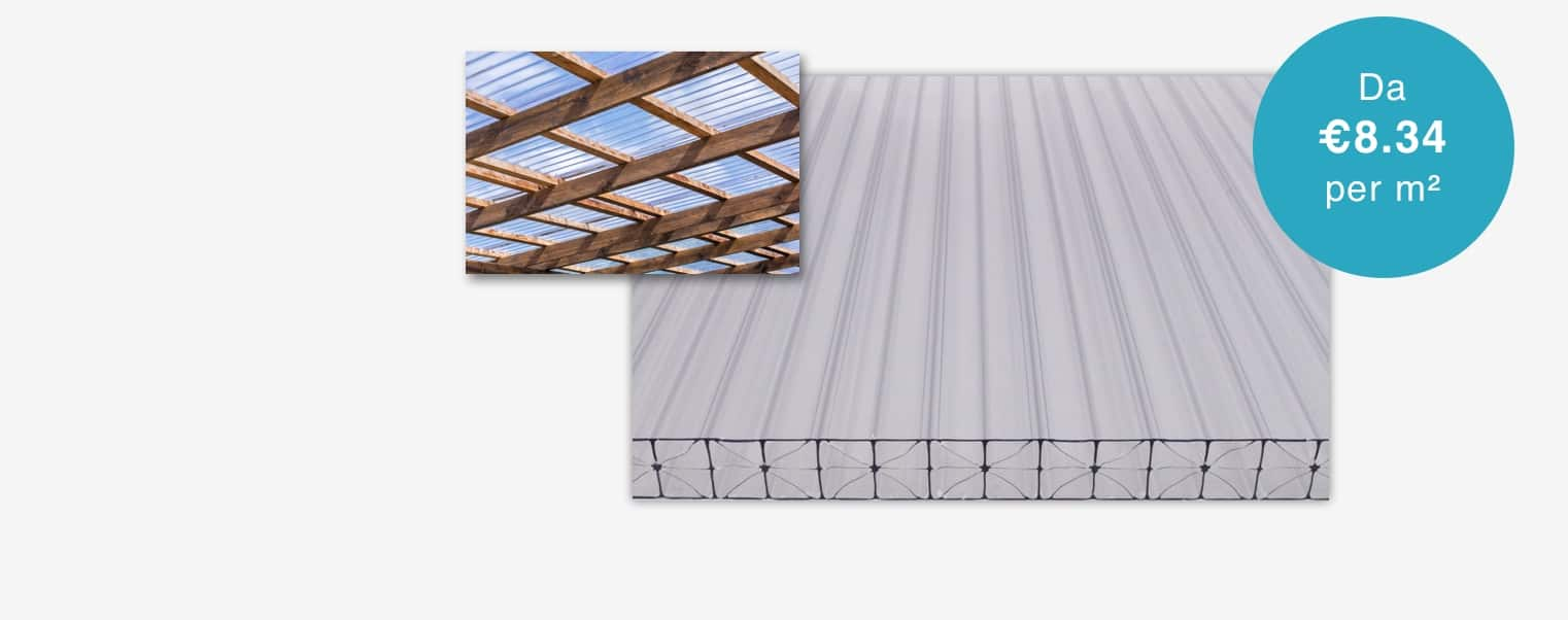 Lastre di policarbonato per coperture